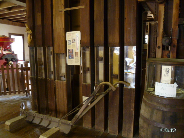 Elevator lift - which carries the ground flour up to the top floor, where gravity makes it possible to bring it down to fill up the bags.